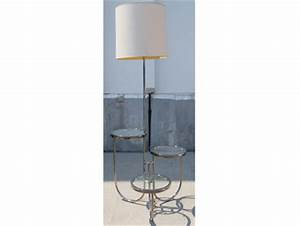 machine age new england39s largest selection of mid 20th With chrome floor lamp with shelves