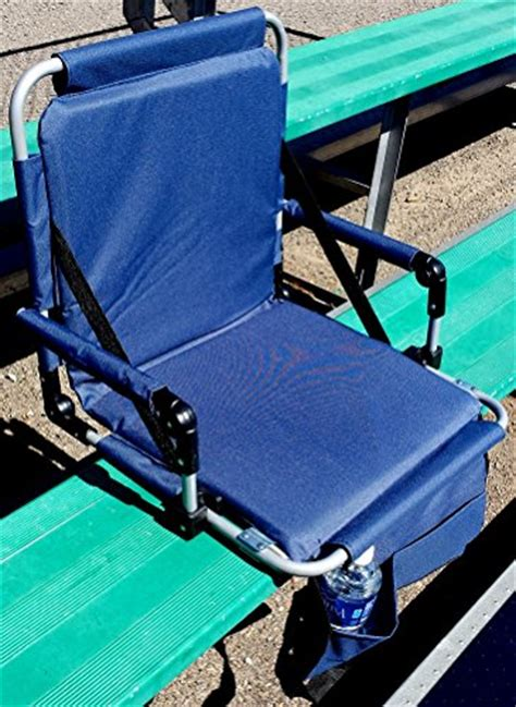 portable folding stadium seat with padded arms seat and