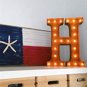 rusty 24 inch letter h marquee light by vintage marquee lights With marquee letter lights