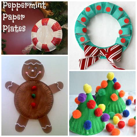 Christmas Paper Plate Crafts For Kids  Crafty Morning