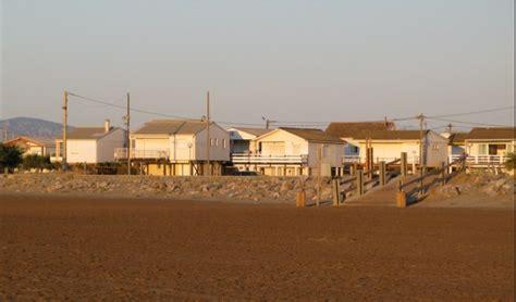lola se balade sur la plage des chalets de gruissan levoyagedelola