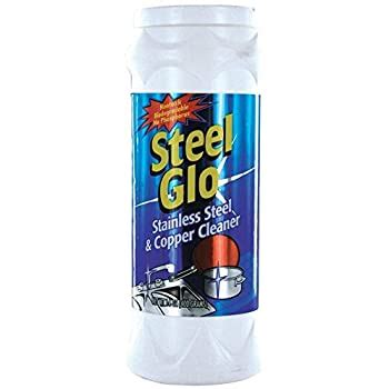 amazoncom steel glo  glow oz stainless steel cleaner home kitchen