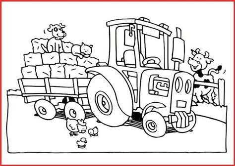 Malst du zuerst den john deere traktor aus oder lieber den trecker mit stroh? Ausmalbild Traktor Mit Anhänger 2 | Ausmalbilder traktor ...