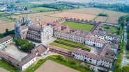 Aerial View Of The Certosa Di Pavia, The Monastery And ...