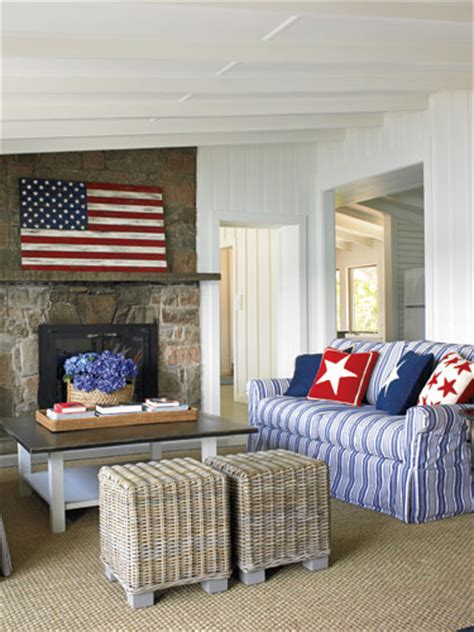 american decor red white and blue rooms
