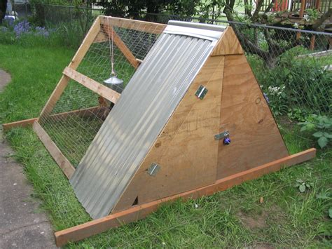 Simple A Frame Chicken Coop Plans With How To Build A