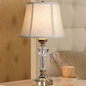 Fashion, Crystal, Table, Lamp, Bedroom, Bedside, Lamp, Table, Lamp, Brief