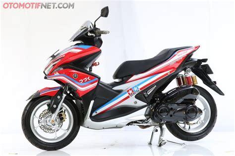 Modification Yamaha Aerox 155vva by Yamaha Aerox 155 With Tamiya Livery Wins Modification
