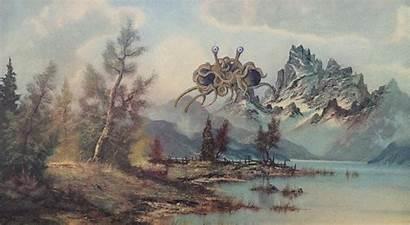Monster Spaghetti Flying Painting Spaghettimonster Fsm Parody
