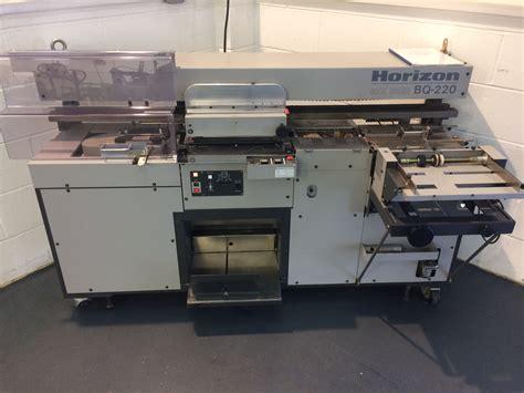 horizon bq  perfect binding machine