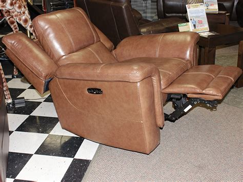 Light Leather Recliner by Light Brown Leather Power Motion Chair Bailey S