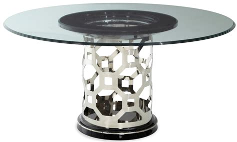 60 glass dining table after eight titanium 60 quot glass top dining table from 7372