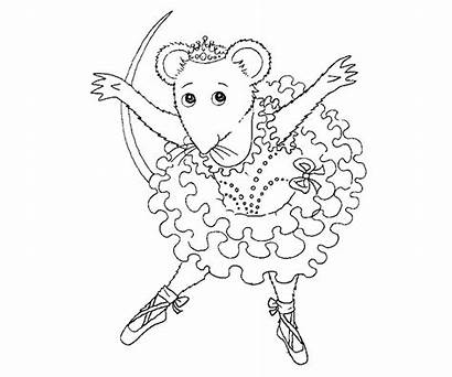 Ballerina Coloring Angelina Pages Printable Colouring Ballet