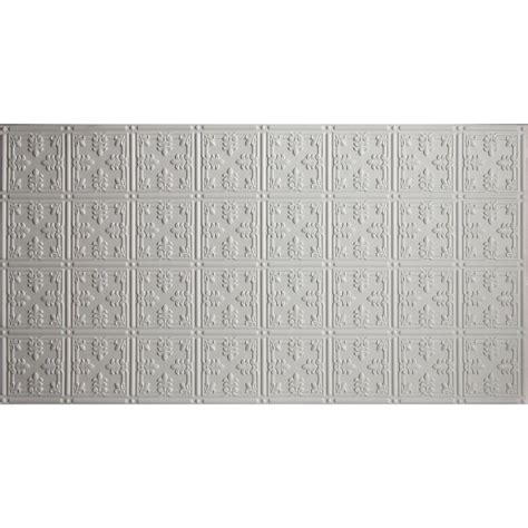 White Tin Ceiling Tiles Home Depot by Global Specialty Products Faux 2 Ft X 4 Ft Glue Up Tin