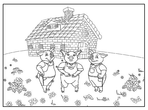 3 Little Pigs Coloring Page Sanfranciscolife