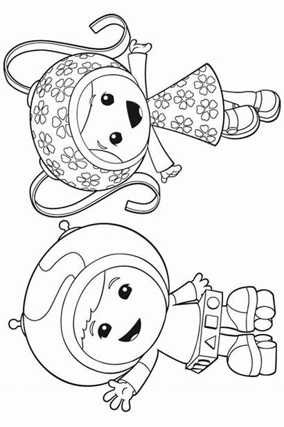 Umizoomi Coloring Team Pages Milli Geo Fun