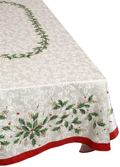 christmas tablecloth lenox christmas golden holly tablecloth