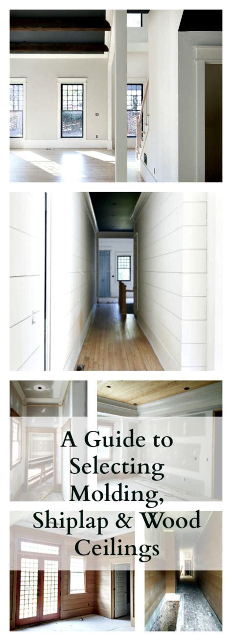 selecting trim molding doors shiplap wood plank ceilings