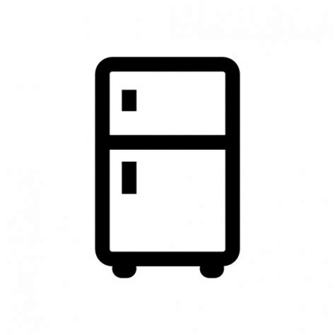 wood table refrigerator icons free