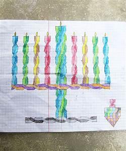 Hanukkah Drawings On Graph Paper Re Visited Creative