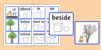 subtraction math problems preposition matching picture cards sen visual aid position