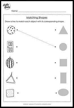 pre  math shapes worksheets  activities shape