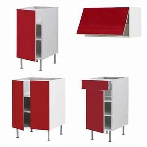 Éléments De Cuisine Pas Cher : meuble de cuisine rouge pas cher maison et mobilier d ~ Melissatoandfro.com Idées de Décoration