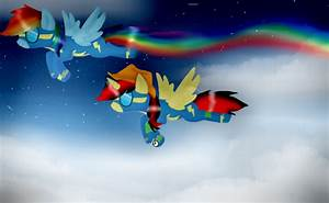 .:Request:. Pika and Rainbow Dash as Wonderbolts by Real ...