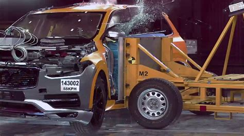 volvo xc crash test footage amazing crash