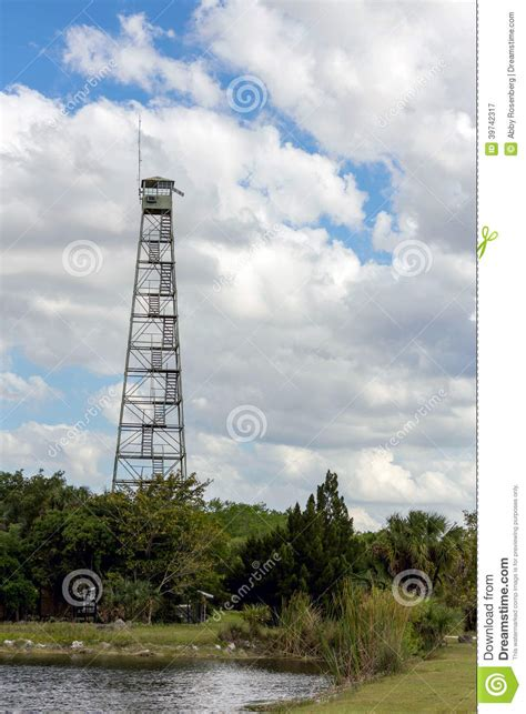 Ranger Station Lookout Tower Stock Photo - Image: 39742317