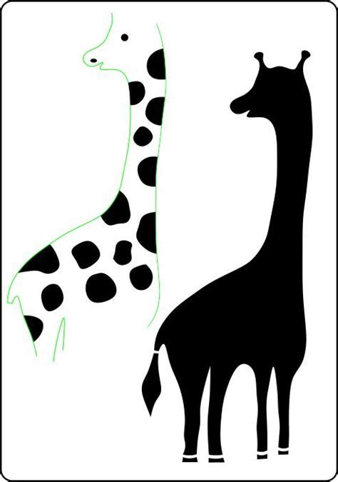Giraffe stencil in two sizes from The Stencil Warehouse online
