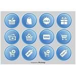 Icon Button Shopping Icons Vector Vecteezy Sets