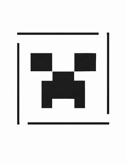 Minecraft Creeper Stencil Pumpkin Carving Template Face