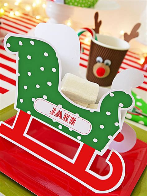 personalized sleigh place cards hgtv