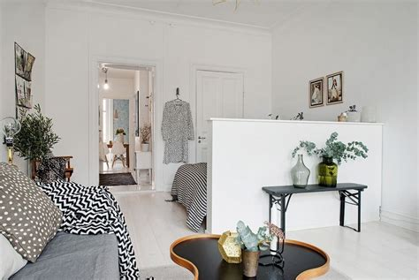 kitchen flooring idea scandinavian apartment makes clever use of small space
