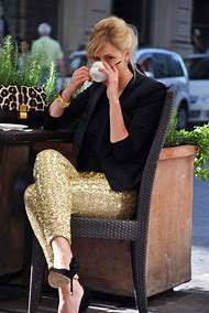 Black and Gold Sequin Pants
