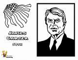 Presidents Carter Printables President James Yescoloring Coloring Pages Reagan Ronald Prestigious Boys Usa sketch template