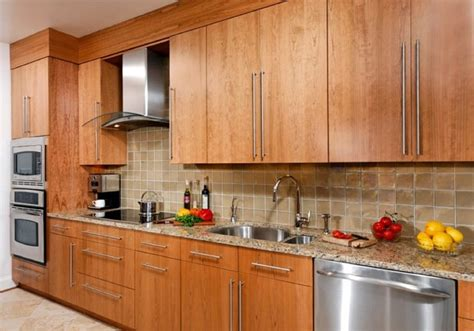 flat panel kitchen cabinet doors contemporary cherry flat panel kitchen