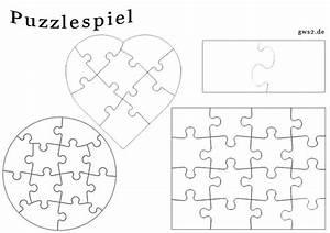 Puzzle Zum Ausdrucken : blanko puzzle in verschiedenen formen kindergarten ~ Lizthompson.info Haus und Dekorationen