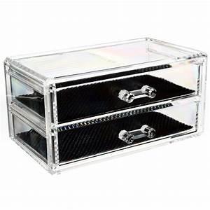 Boite à Café : boite bijoux transparente 2 tiroirs ~ Teatrodelosmanantiales.com Idées de Décoration