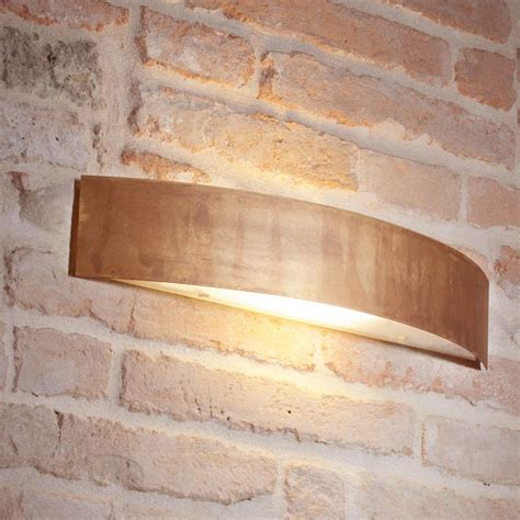applique muro applique da muro lola 48x10xh9 cm in ottone ossidato