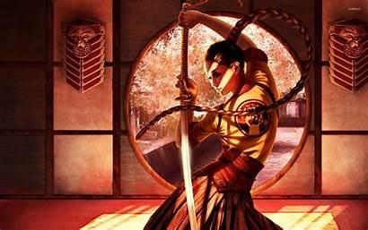 Samurai Wallpapers Anime Female Japanese Warrior Sword