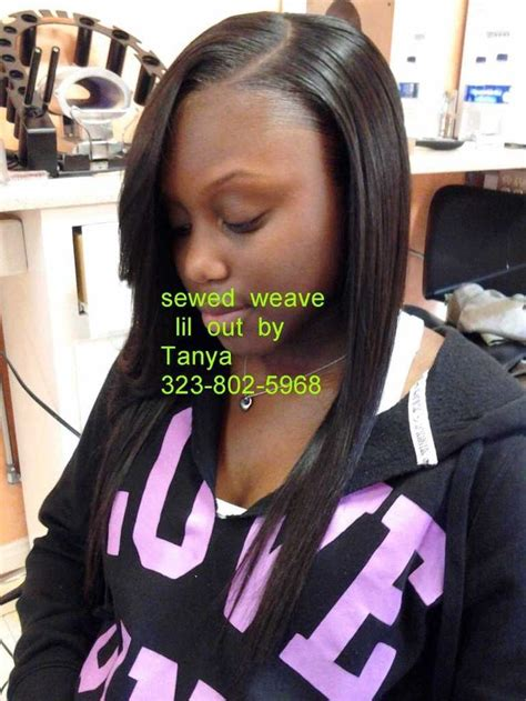 Hairstyles With Tracks Sewed In by Sewed In Weave With Lil Out To Cover Tracks