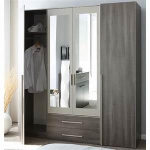 Armoire 4 Portes : armoire 4 portes epura marron ~ Teatrodelosmanantiales.com Idées de Décoration