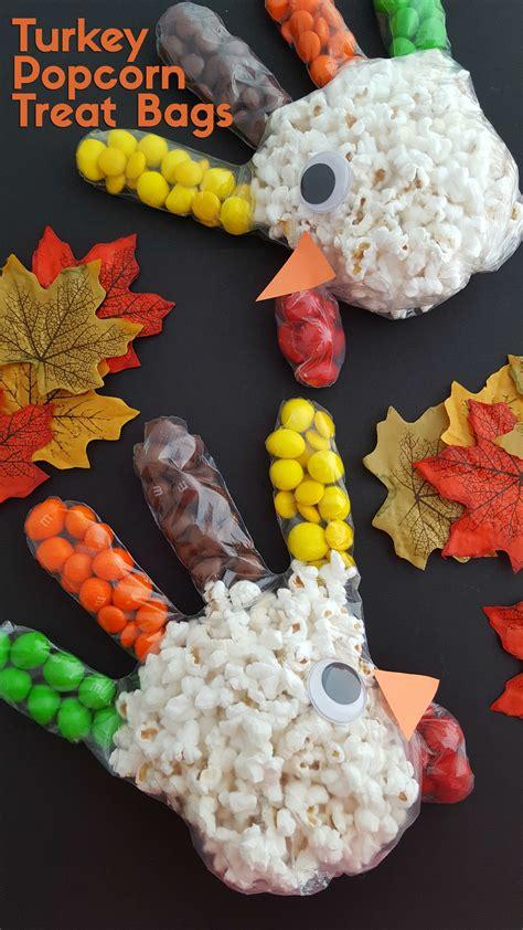 turkey popcorn treat bags thanksgiving snacks