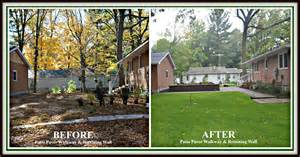 landscaping before and after your local landscaping contractor photo gallery