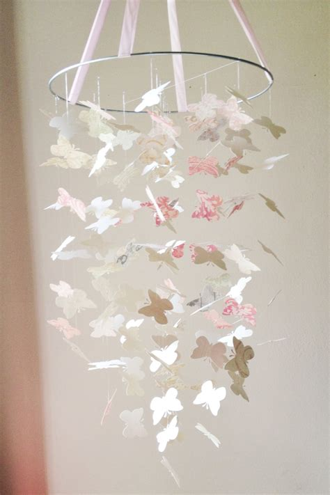 shabby chic diy shabby chic butterfly mobile diy kit nursery by ollieandpenny