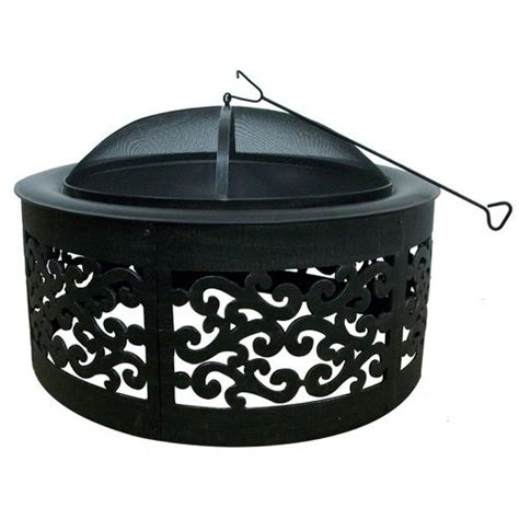 "Allen + Roth 35"" Black Steel Woodburning Fire Pit Check"