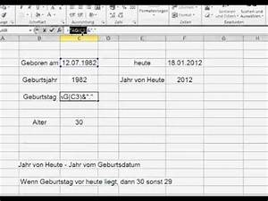 Alter In Excel Berechnen : excel funktion datum doovi ~ Themetempest.com Abrechnung