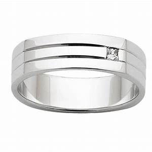 Flat top mens wedding ring with diamond for Flat top mens wedding rings